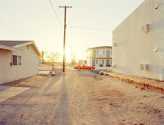 Nick Meek #alley #orange #road #sunset #car #dirt