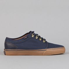 Flatspot - Vans 106 Vulcanized CA (Waxed Canvas) Blue Nights / Medium Gum #gum #sneakers #navy #fashion #style