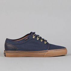 Flatspot - Vans 106 Vulcanized CA (Waxed Canvas) Blue Nights / Medium Gum #gum #sneakers #navy #fashion #style