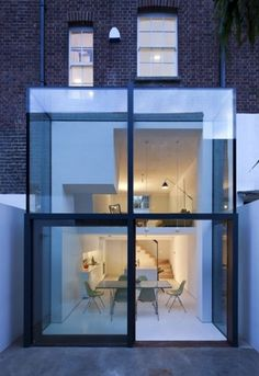 Dezeen » Blog Archive » Hoxton House by David Mikhail Architects #brick #mikhail #house #architects #extension #glass #hoxton #architecture #david