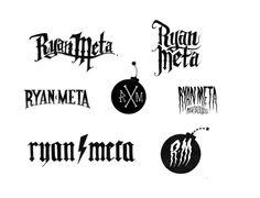 Logo sketches Ryan Meta // RPD #calligraphy #lettering #branding #icon #hand #black #letter #logo #rpd #typography
