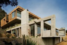 Casa el Pangue by Elton Leniz Architects #house #wood #architecture #chile #cement