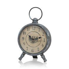 Greywash Round Clock, 20cm high
