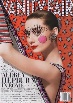 capa revista 029 #hepburn #doodles #vanity #recover #cover #strumpf #illustration #fair #ana #audrey #magazine