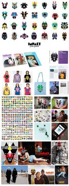 Impakt Festival 2008 | Lava Graphic Design, Amsterdam #modular #branding #montage #graphic #identity #colour