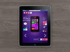 Digital design for website, phone and tablet app. #self #ipad #tablet #app #service #purple