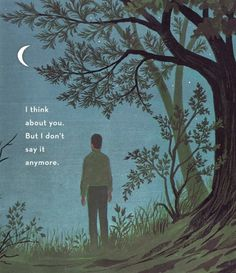 Marguerite Duras #crescent #tree #quote #illustration #thoughtful #art #though #moon