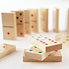 Classic Wooden Dominoes Set #gadget