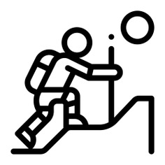 See more icon inspiration related to mountain, sport, path, hobbies and free time, hiking, excursion, climbing, nature and people on Flaticon.