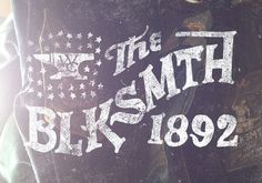BLKSMTH Jon Contino, Alphastructaesthetitologist #clothing #lettering #blacksmith #jon #contino #tag #typography