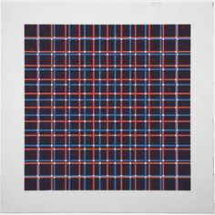 #206 Tartan (two overlapping grids) – A new minimal geometric composition each day