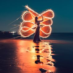 Stunning Light Painting Portrait Photography by Zach Alan
