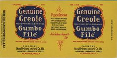 Genuine Creole Gumbo Label #old #1930 #gombo #1950 #typography #label #food #1920 #vintage #1940 #type #1960 #1970