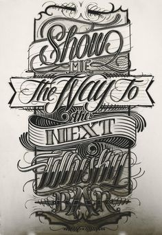 Show me the way... by Mateusz Witczak #creative #lettering #design #graphic #concept #excellence #craftsmanship #quality #type #genius #typography