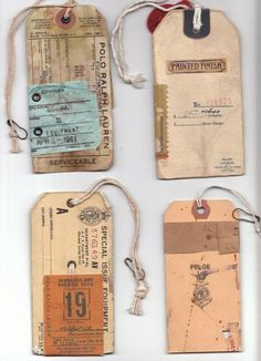 PRLht7 #tags #hangtags #labels #vintage