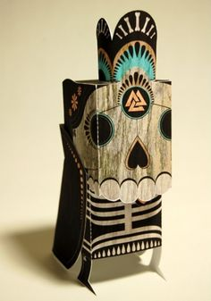 i want your skull (r.i.p.r.a. special edition) • by horrorwood - Nice Paper Toys #skull #paper toy