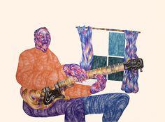 Foragepress.com | Andrew Khosravani #illustration #color #blues #brush