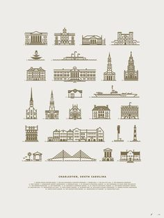 Charleston_jay_fletcher #line #pictogram #icon #sign #city #picto #illustration #building #symbol