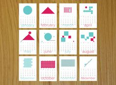 geometric design calendar - Google Search