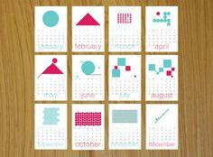geometric design calendar - Google Search