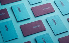 Carlos Bauer and Nicholas Pierre tropico branding blue logotype business card modern simple mindsparkle mag purple stationery minimal