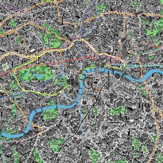 Hand Drawn Map of London - Art Prints from Evermade.com #london #drawn #hand #map