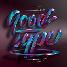 Goodtype 🖊 #goodtype @goodtype #StrengthInLetters - - - I created this paint lettering effect based on a technique I learned from a great