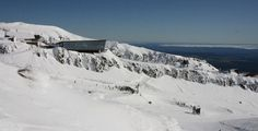 Cafe Koll Ridge in winter #mountain #architecture #volcano #caf