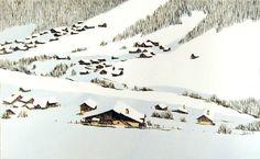 Dessins de paysage #rochat #illustration #pierre-abraham #landscape