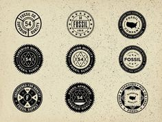 Dribbble - Vintage Union Inspired Seals - Fossil by Jonathan Schubert #icons