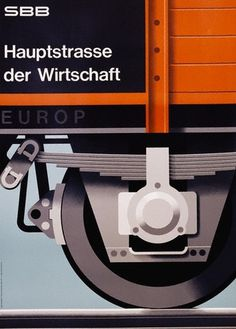Poster Design by Hans Hartmann from 1962. More...   WE AND THE COLOR a blog inspiration in graphic design, illustration art, photography, pr