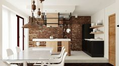 Two Apartments Merged In An Industrial Style
