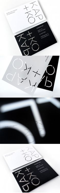 Black And White Laser Cut Business Card Design