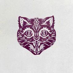 by pedro oyarbide, saint kilda #logo #animal #vintage #cat
