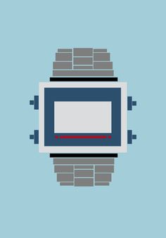 objects on Behance #retro #casio #yildirim #yasemin #illustration #watch #graphics