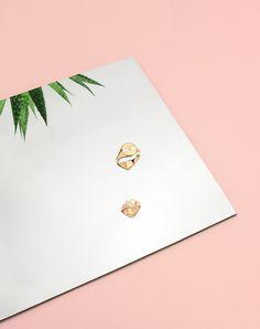 #signetring #signet #secretsignet #smithgrey #gold # pink #gold #mirror #plant