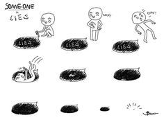 #someone #lies