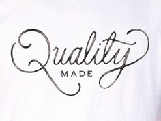 Quality Made by Ramzy Masri #lettering
