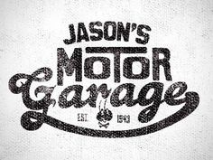 Jason's Motor Garage #type #logo #logotype #typography
