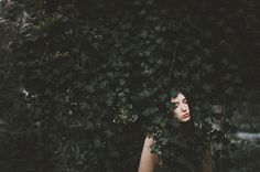 leaves, girl, nature, photo, pattern
