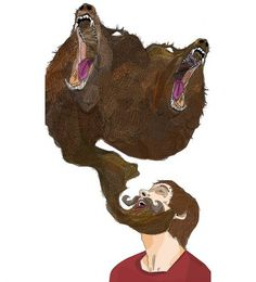 Synchronized Beards | Super Top Secret #bear #illustration #beard