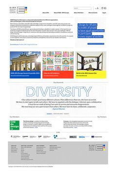 EIDD Design for All Website on Behance #design #graphic