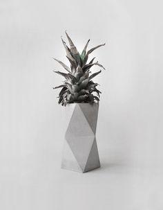 Geometrical Concrete Minimalist Vase by frauklarer