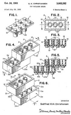 Original Lego Patent » Design You Trust – Design and Beyond! #lego