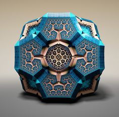 And it occurred to me that these must be holographic viral... - but does it float #blue #stamp #fractal #smart