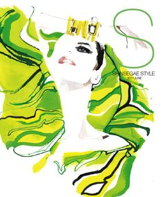 shinsegae style korea david downton #downton #illustration #fashion #watercolor #david #drawing