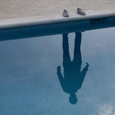 Tumblr #water #person #pool #reflection #shadow
