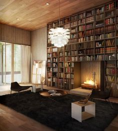 "Image Spark Image tagged ""room design"" jermshaw #libraries #bookcases #interiors #architecture"