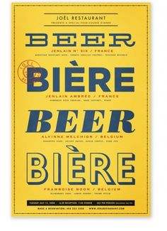 Posters : Alvin Diec #bright #beer #poster #type #typography