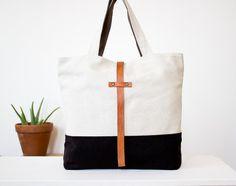 tas Tote zwart / wit #bag